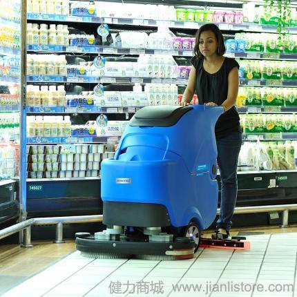 容恩R70BT全自动洗地机价格 国产洗地机 容恩手推式洗地机
