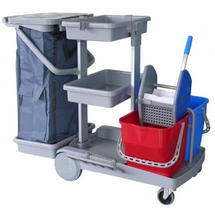 CT清洁服务车 JT150全能排拖型 进口清洁服务车 酒店清洁用品