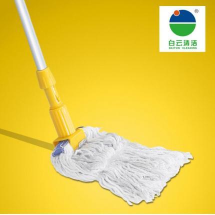白云清洁 AF01065厂家批发直杆正品拖把夹式蜡拖塑料铝合金纯棉头
