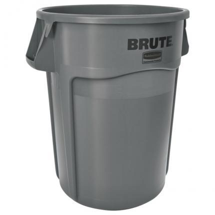 乐柏美rubbermaid FG264360 BRUTE™ 44KG加仑带通风管道的多用途贮物桶