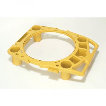 乐柏美 Rubbermaid BRUTE™  FG9W8700 BRUTE™ 44加仑贮物桶工具组合架