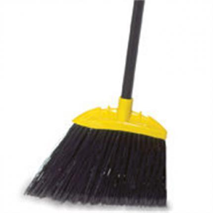 乐柏美 rubbermaid FG637500GRAY特大型斜型扫帚,采用直径2.5cm的黑色金属手柄与聚丙烯帚毛