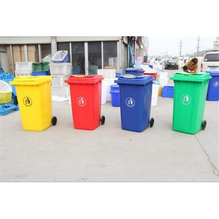 亚伯兰100L垃圾桶塑料环卫垃圾桶保洁塑料桶
