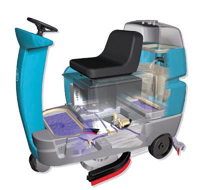 美国坦能餐饮酒店医院商厦商超公共场所专用微型驾驶式洗地机T7