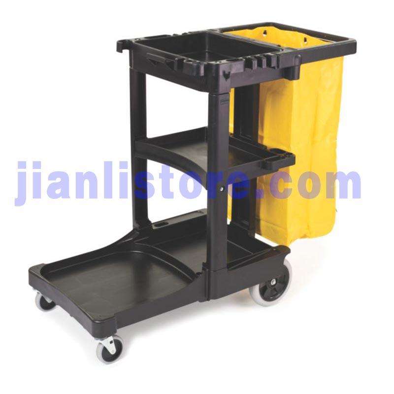 乐柏美rubbermaid  FG617388 清洁推车连有拉链的黄色乙烯基袋