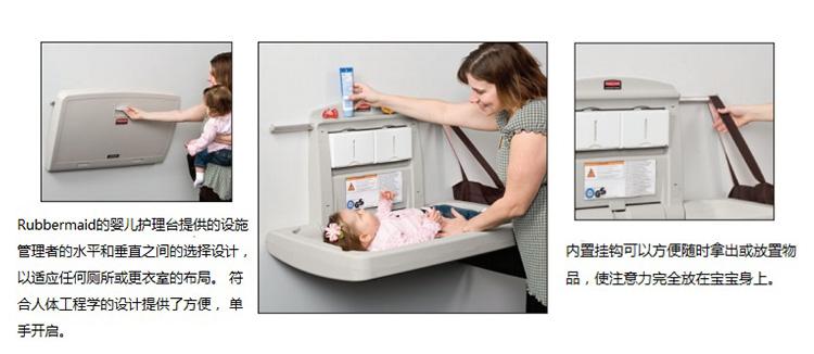 乐柏美 rubbermaid 婴儿护理台FG781888安装细节