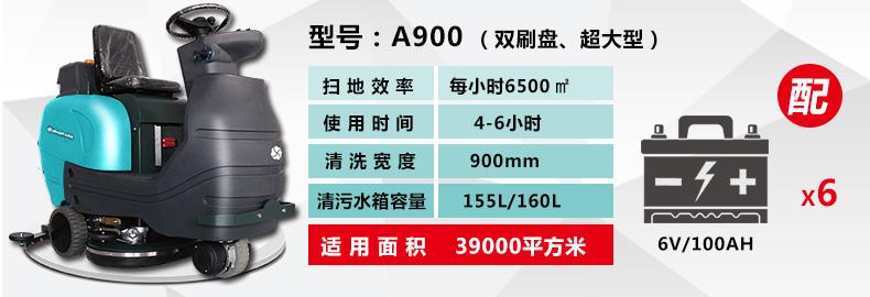 亚伯兰A 900B手推式洗地机参数解读图
